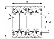 Axial angular contact ball bearings - ZKLN2052-2RS-2AP-XL