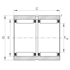 Needle roller bearings - RNAO20X28X26-ZW-ASR1-XL