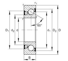 Axial angular contact ball bearings - BSB2562-2Z-SU