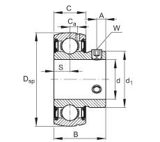 Radial insert ball bearings - SUB204