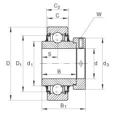 Radial insert ball bearings - E20-XL-KLL