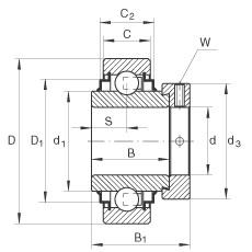 Radial insert ball bearings - E25-XL-KRR