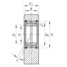 Hydraulic rod ends - GF25-DO