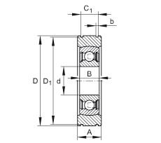 Radial insert ball bearings - BE25-XL