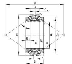 Axial angular contact ball bearings - 234440-M-SP