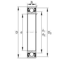 Deep groove ball bearings - 61913-2RZ
