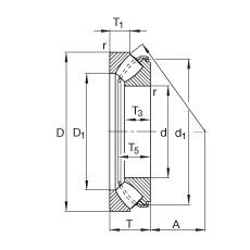 Axial spherical roller bearings - 29448-E1-XL