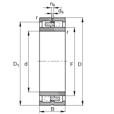 Cylindrical roller bearings - NNU4938-S-M-SP