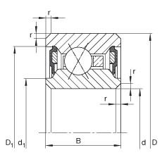 Thin section bearings - CSXU110-2RS