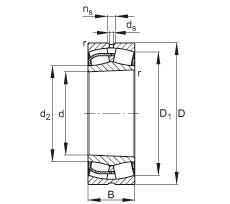 Spherical roller bearings - 22244-BE-XL-K