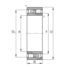 Cylindrical roller bearings - NNU41/530-M