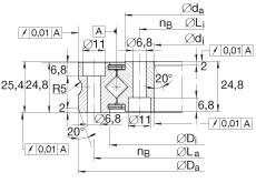 Crossed roller bearings - XSU080398