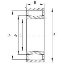 Toroidal roller bearings - C41/500-XL-K30-M1B
