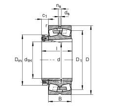Spherical roller bearings - 239/900-K-MB + H39/900-HG
