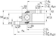 Four point contact bearings - VLU200544