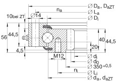 Four point contact bearings - VSI200414-N