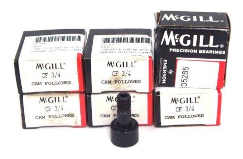 LOT OF 6 NIB MCGILL CF 3/4 CAM FOLLOWERS CF34