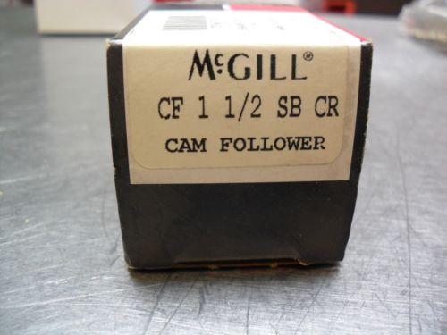 "McGill CF 1 1/2 SB CR Flat Cam Follower Stainless Steel  1-1/2"": Roller Dia."