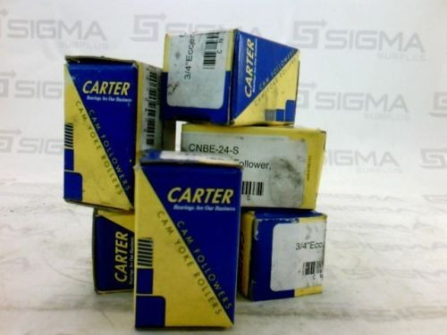 """Carter CNBE-24-S 3/4"""" Eccentric Cam Follower Sealed  (Lot of 6)"""