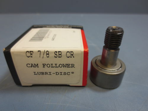 "1 Nib McGill CF-7/8-SB-CR Cam Follower Roller D .8750 W .5000"" Stud Dia .3750"""
