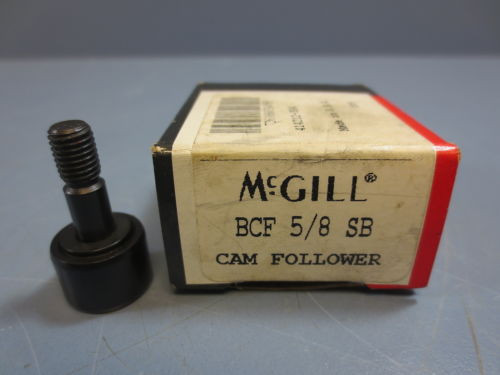 "1 Nib McGill BCF-5/8-SB Cam Follower Bearing RD .6250"" RW 0.438"" SD .2500"" New!"