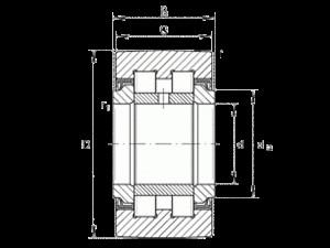 INA Kurvenrolle PWTR40-2RS-XL