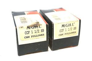 2 NEW MCGILL CCF-1-1/2-SB CAM FOLLOWER CCF112SB