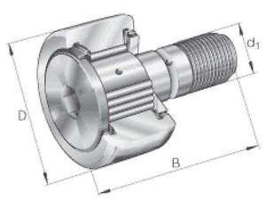 INA Kurvenrolle KRV30-X-PP-A