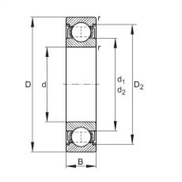 Deep groove ball bearings - 61806-2Z