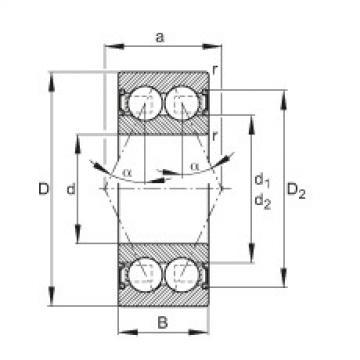 Angular contact ball bearings - 3802-B-2RS-TVH