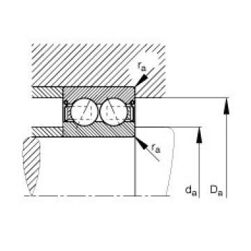 Angular contact ball bearings - 3803-B-2RS-TVH