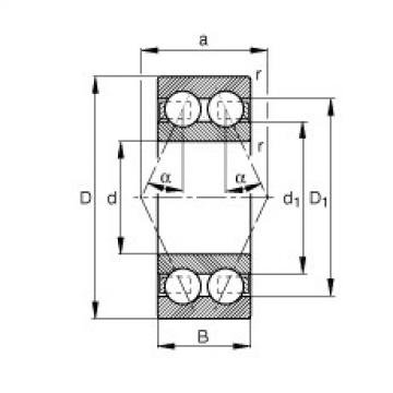 Angular contact ball bearings - 3820-B-TVH