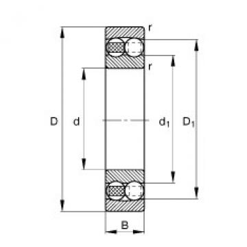 Self-aligning ball bearings - 1217-TVH