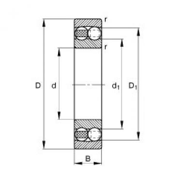 Self-aligning ball bearings - 1218-TVH