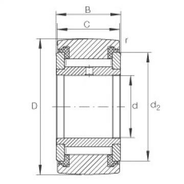 Yoke type track rollers - NATV8-PP
