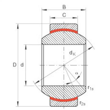 Radial spherical plain bearings - GE17-FW