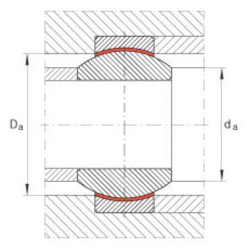 Radial spherical plain bearings - GE12-FW