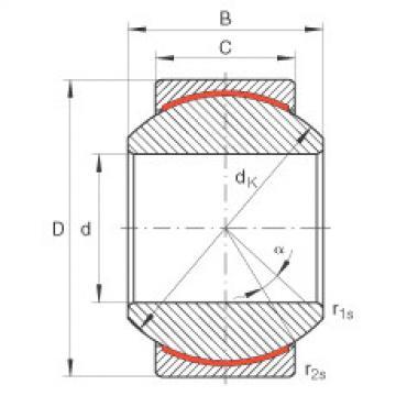 Radial spherical plain bearings - GE8-PW