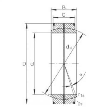 Radial spherical plain bearings - GE950-DO