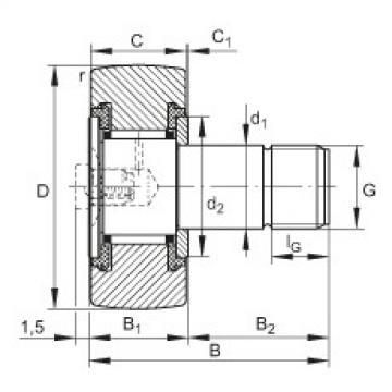 Stud type track rollers - KR19-PP
