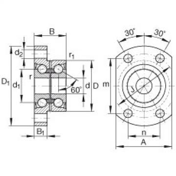 Angular contact ball bearing units - ZKLFA1050-2Z