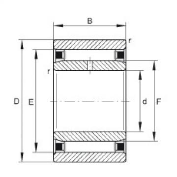 Needle roller bearings - NAO25X42X16-IS1-XL