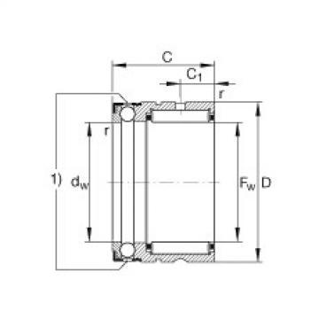 Needle roller/axial ball bearings - NX7-TV-XL