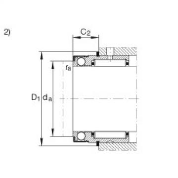 Needle roller/axial ball bearings - NX12-XL