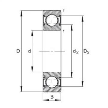 Deep groove ball bearings - 6305-C-2HRS