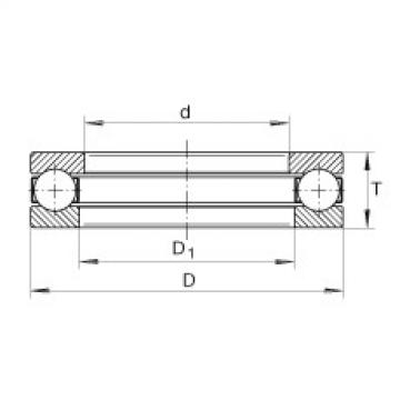 Axial deep groove ball bearings - 956