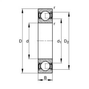 Deep groove ball bearings - S61805-2RSR