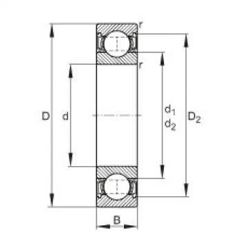 Deep groove ball bearings - 6200-2RSR