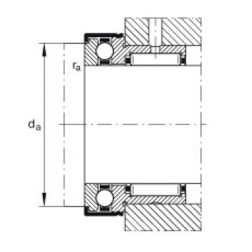 Needle roller/axial ball bearings - NKX12-XL