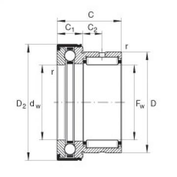 Needle roller/axial ball bearings - NKX17-Z-XL